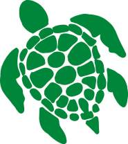 Sea Turtle Vinyl Decal - 8 Inches - For Cars, Trucks, Windows, Laptops, Tablets, Outdoor-Grade 2.5mil Thick Vinyl - Green