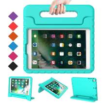 BMOUO Case for New iPad 9.7 Inch 2018/2017 - Shockproof Case Light Weight Kids Case Cover Handle Stand Case for iPad 9.7 Inch 2017/2018 (iPad 5th and 6th Generation) Previous Model - Turquoise