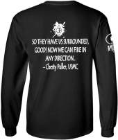 Patriot Apparel Company American Uprising Chesty Puller USMC Marine Corps Long Sleeve T-Shirt Tee