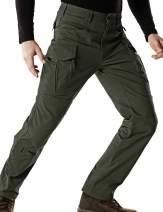 CQR Men's Flex Stretch Tactical Pants, Water Repellent Ripstop Cargo Pants, Lightweight EDC Outdoor Hiking Work Pants