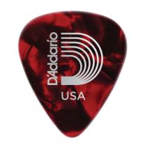 Planet Waves Red Pearl Celluloid Guitar Picks, 25 pack, Extra Heavy