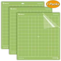 Standard Grip Cutting Mat for Cricut Explore One/Air/Air 2/Maker 3 Packs Cut Mats Replacement Accessories for Cricut (12 x 12 inch, Green).