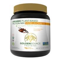 GoldenSource Proteins Organic Plant-Based Protein, Vanilla Chai, 1 Pound