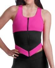 YIANNA Womens Waist Trainer Vest Zipper Sweat Sauna Suit Tank Top Hourglass Slimming Body Shaper