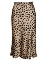 Leopard Midi Skirts for Women Summer - Elastic High Waisted Fishtail Slip Pencil Long Midi Skirt