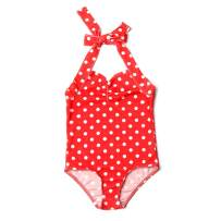 Toddler Baby Girl Swimsuit Sleeveless Swimwear Dot One Piece Beach Bikini Bathing Suit Outfits