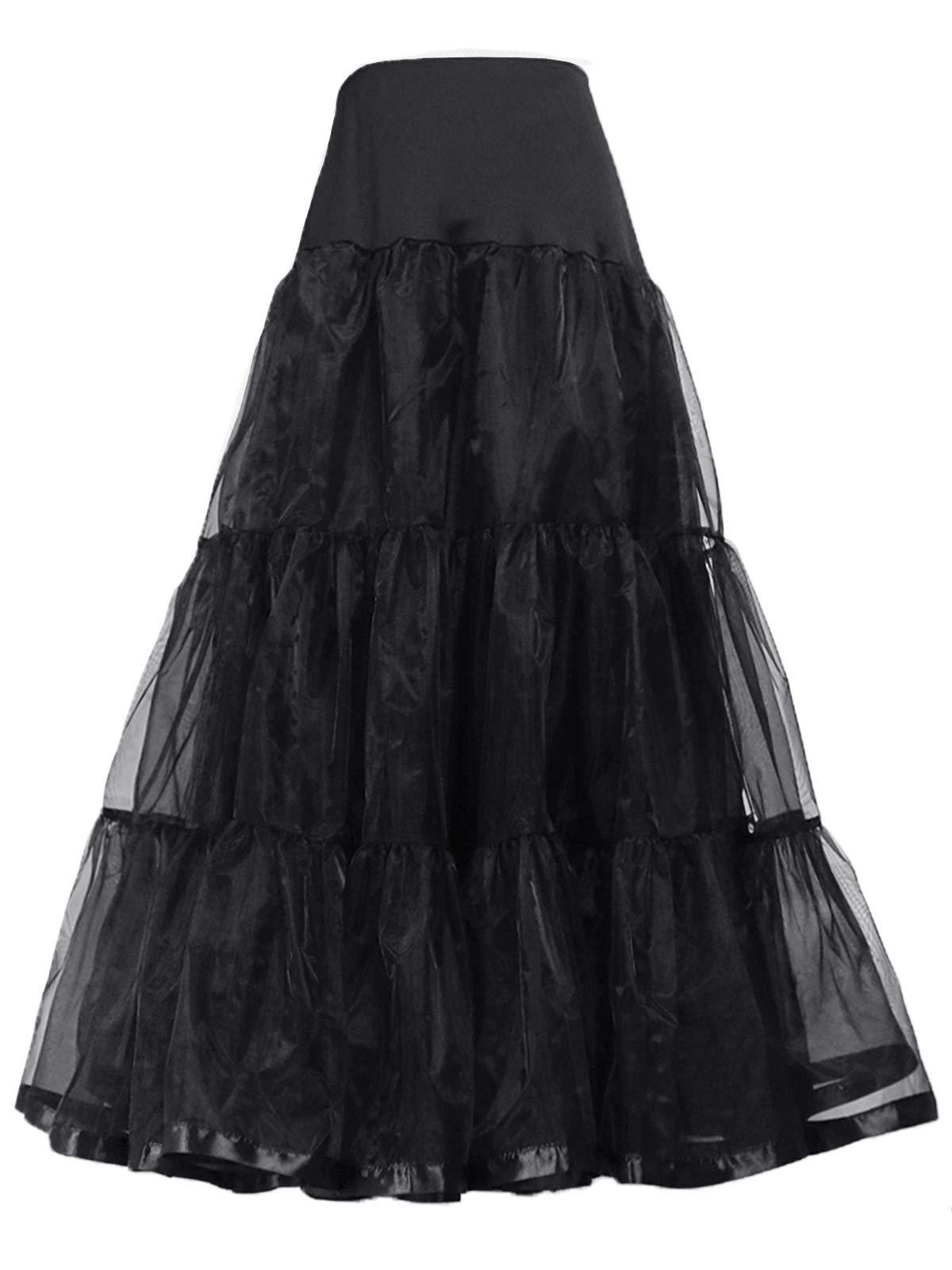 Women's Ankle Length Bridal Net Petticoat Crinoline Tulle Wedding Underskirt