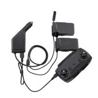Battery Car Charger Accessories for DJI Mavic Air with Triple Output (USB + 2 x Charging Output) with Safety Cover by Fstop Labs (No Batteries Included)