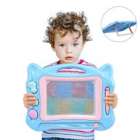 zuhafa Magnetic Drawing Board Gift for 2 3 4 Year Old Boys,Magna Doodle for Toddlers Boys Toys Age 2-6 Birthday Gift for 3 4 5 Year Old Boys Small Toys for Travel,16'' X12'' (Blue)