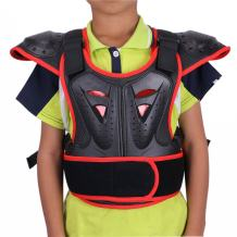 WINGOFFLY Kids Chest Spine Protector Body Armor Vest Protective Gear for Dirt Bike Motocross Snowboarding Skiing, Red S