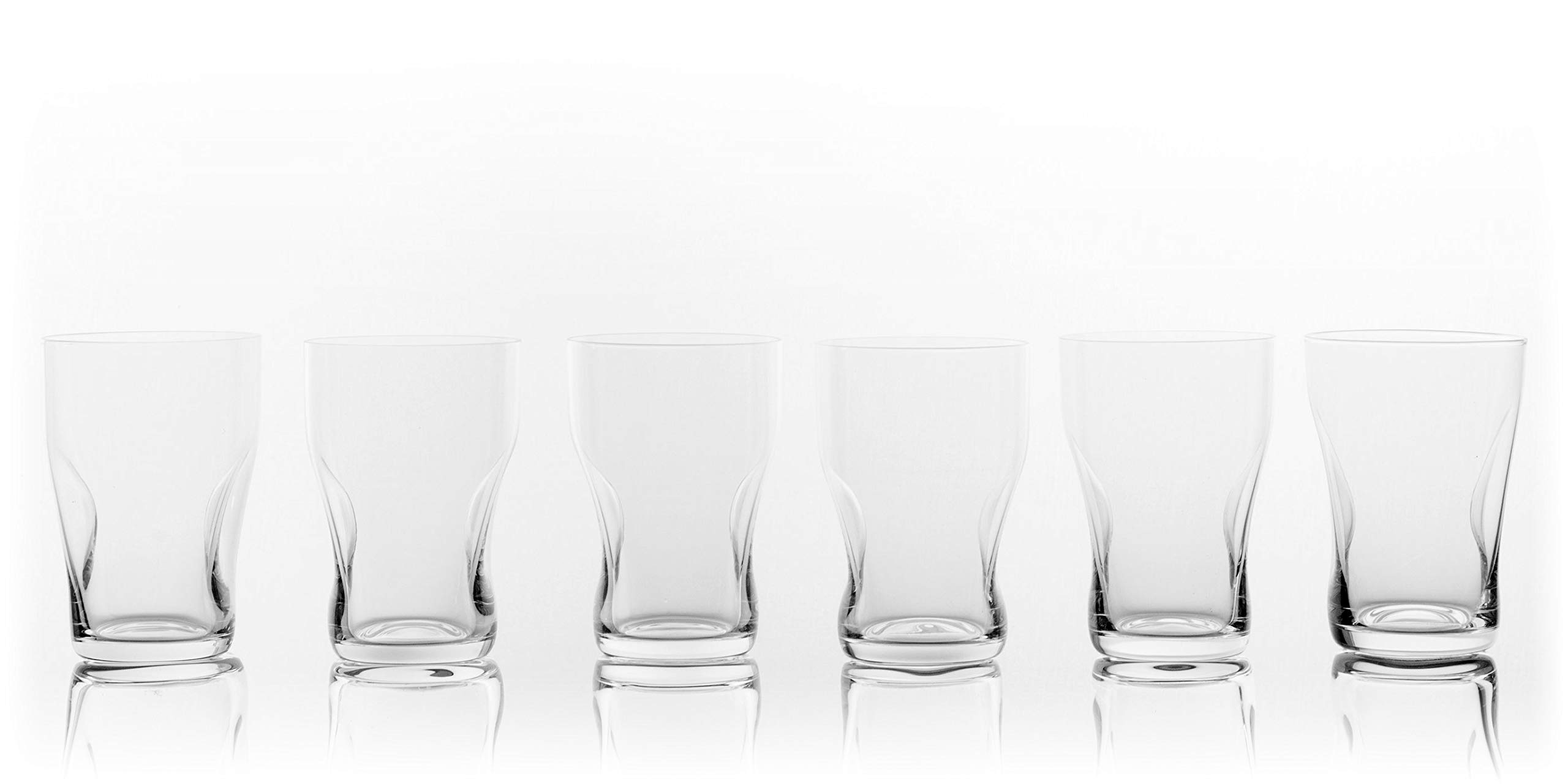 Gabriel-Glas - Highball Glass 500 ml - Set of 6 - Aqua Collection - Mouth-Blown - Lead-free Crystal Glass from Austria