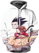 joo meryer Men's Dragon Ball 3D Print Pullover Hoodie Sweatshirt with Pocket
