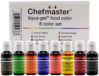 Chefmaster - Liqua-Gel Food Coloring - Fade Resistant Food Coloring - 8 Pack - Vibrant, Eye-Catching Colors, Easy-To-Blend Formula, Fade-Resistant