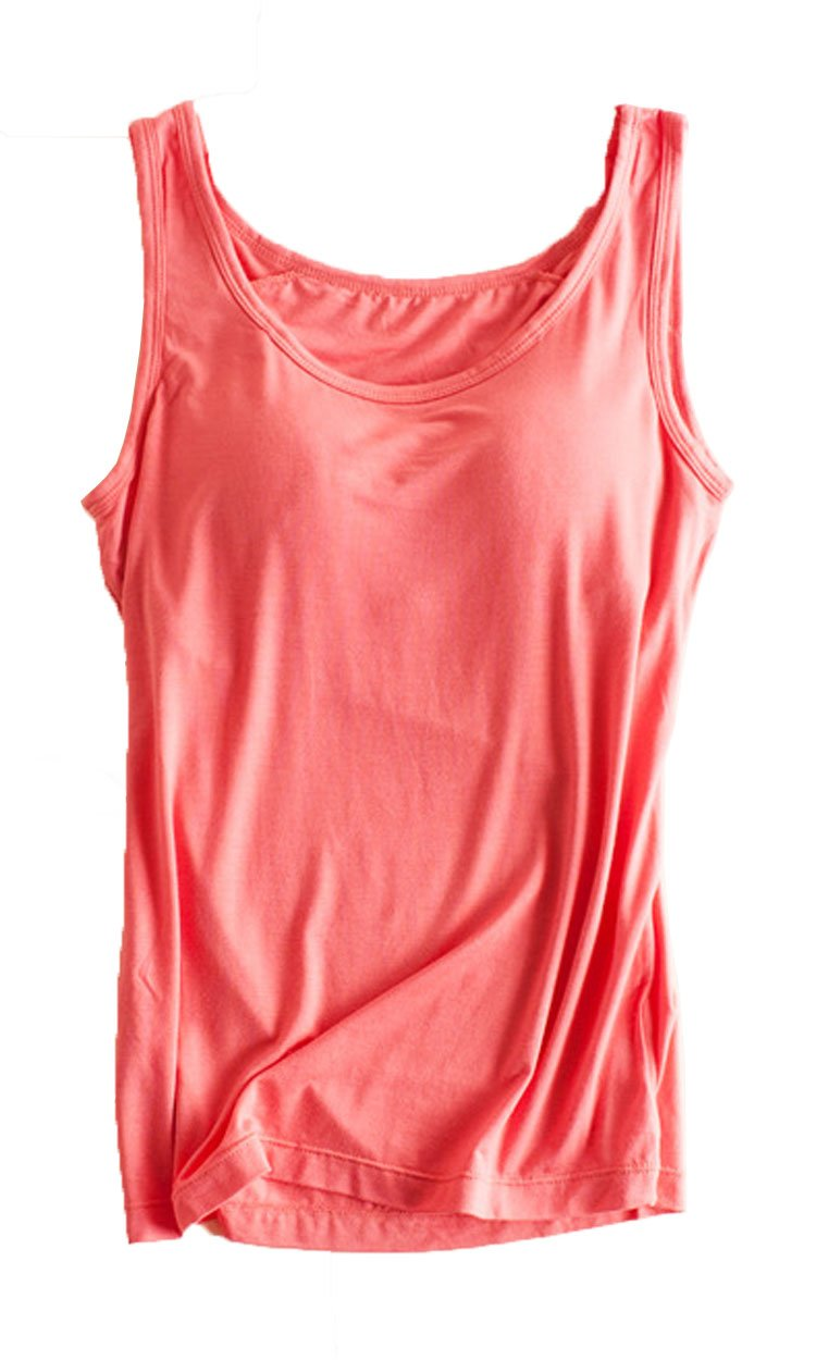 Atditama Womens Modal Built-in Bra Padded Active Strap Camisole Yoga Tanks Tops