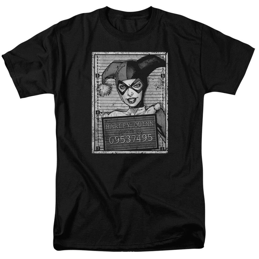Harley Quinn DC Comics Mugshot T Shirt & Stickers