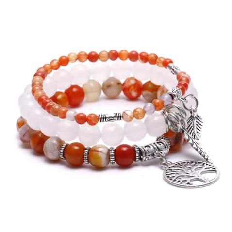Ocean Jasper Bracelet Custom Length Women/'s or Men/'s Gold Bracelet Natural Gemstone Jasper Jewelry Crystal Stretch Bracelet