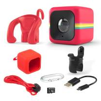 Polaroid Lifestyle Cube ACT Two HD 1080p Waterproof Action & Underwater Wide Angle Sports Video Mini Camera Bundle - Red