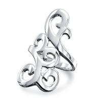 Swirl Scroll Boho Fashion Statement Full Finger Armor Ring For Teen For Women Polished 925 Sterling Silver For Women