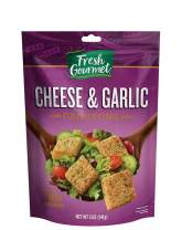 Fresh Gourmet Premium Croutons, Cheese & Garlic, 5 Ounce (Pack of 6)