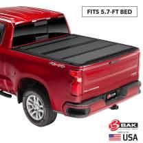 "BAK BAKFlip MX4 Hard Folding Truck Bed Tonneau Cover | 448207 | Fits 2009-20 Dodge Ram 2019 2500-3500 5'7"" Bed"