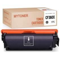 MYTONER Compatible Toner Cartridge Replacement for HP 508X CF360X for Color Laserjet M553 M553dn M577dn M577f M577z M553n M577c M552dn M553x (Black, 1-Pack)