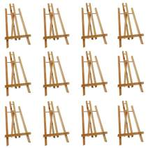 "Mont Marte Tabletop Display Easel 15.7"" Tall, Wood Paint Easel of 12 Packs for Artists, Students&Kids"