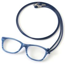 MIDI Jay Blue Fine Acetate Lorgnette Loupe with Cord for Women – Magnifying and Reading Glasses [All in one](pg001c5)