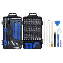 Precision Screwdriver Set, 126 in 1 Magnetic Screwdriver Kit, Stainless Steel Professional Repair Tools Kit for Phone, Laptop, PC, Camera, Game Console, Glasses, and More