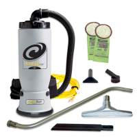 ProTeam Commercial Backpack Vacuum, AviationVac Vacuum Backpack with 1-1/2-Inch Tool Kit, 6 Quart, Corded