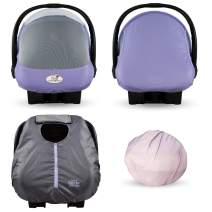 Cozy Combo Pack (Rhapsody Purple) – Sun & Bug Cover Plus a Lightweight Summer Cozy Cover - Trusted by Over 6 Million Moms Worldwide – Protects Your Baby from Mosquitos, Insects, The Sun, Wind