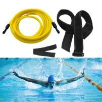 Showvigor Stationary Swim Trainer Bungee Cord Static Swimming Training Belt Tether Swim in Place Resistance Elastic Bands Swimming Training Elastic Rope