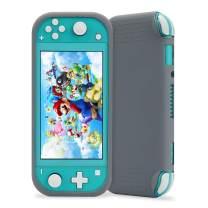 Protective Case for Nintendo Switch Lite, KIWI design New Half Wrapped Case Soft Silicone Anti-Slip Shockproof Protective Cover for Nintendo Switch Lite 2019(Gray)