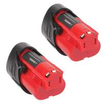 2Pack Upgraded 3.5Ah M 12 Battery for Milwaukee 12V Battery Lithium XC M 12B Batteries 48-11-2440 48-11-2402 48-11-2440 48-11-2410 48-11-2411 12Volt Battery Replacement for Milwaukee