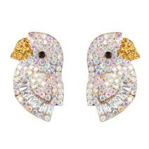lureme Cute bird Stud Earring Colorful Parrot Earrings for Women (er006261)