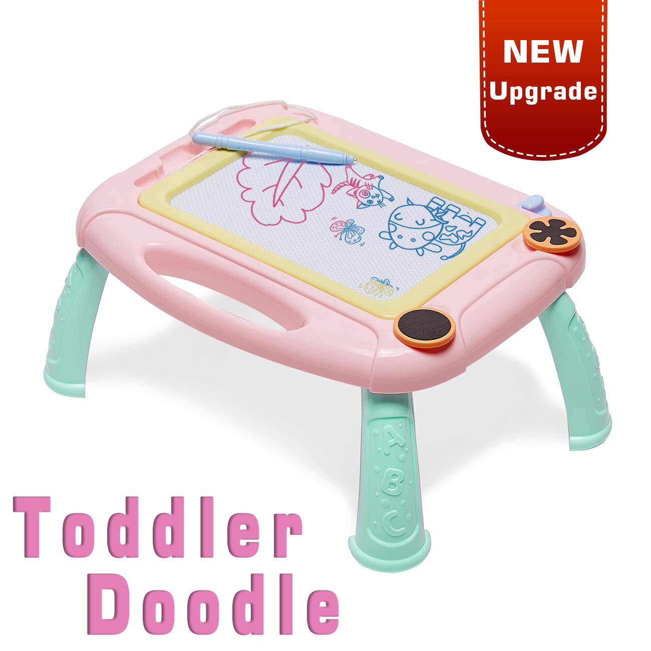LODBY Toys for 1 2 3 4 Year Old Girls Gifts, Kids Magnetic Drawing Board for Girls Birthday Gifts for 1 2 3 4 Year Old Girls Gifts Age 1-4, Doodle Board Drawing Pad for Toddler Girls Toys Age 1-4