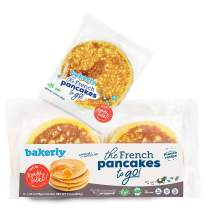 bakerly French Pancakes To Go! Non GMO, Free from Artificial Flavors & Colors, Pack of 4, 6-Count (24 Total Pancakes)