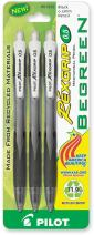PILOT RexGrip BeGreen Mechanical Pencils, 0.5mm HB Lead, 3-Pack (51222)