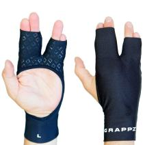 Finger Tape Alternative Compression Gloves Pair, Injury Jam Protection Splint & Grip Support for BJJ & Sports Black Unisex
