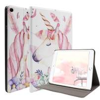 """Unicorn iPad 9.7 2018 (6th Gen)/2017 (5th Gen) Case - Ultra Slim PU Leather Multi-Angle Stand Smart Wake/Sleep Case with Pencil Holder for iPad Air 9.7"""" (6th Gen, 5th Gen) (Pink)"""