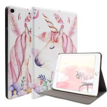"Unicorn iPad 9.7 2018 (6th Gen)/2017 (5th Gen) Case - Ultra Slim PU Leather Multi-Angle Stand Smart Wake/Sleep Case with Pencil Holder for iPad Air 9.7"" (6th Gen, 5th Gen) (Pink)"