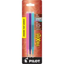 PILOT FriXion Gel Ink Refills for Erasable Pens, Fine Point, Pink/Purple/Turquoise Inks, 3-Pack (77336)