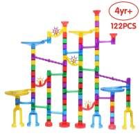 ANIKI TOYS Premium Quality Marble Run Toy, Marble Runs STEM Educational Learning Toy, Marble Race Coaster Construction Railway Building Blocks Toy for Boys Girls 4 5 6 7 8 + Year Old