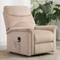 Lift Chairs, Bonzy Home Power Lift Recliner Chair for Elderly with Soft Fabric, Remote, 3 Position & Side Pocket, Recliner Chair for Home Theater Seating, Living Room & Bed Room