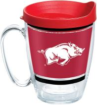 Tervis NCAA Arkansas Razorbacks Legend Coffee Mug With Lid, 16 oz, Clear