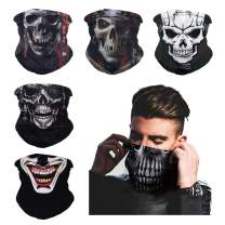 6 PCS Bandanas Face Mask, Scarf Headband Neck Gaiter Balaclava Seamless Headwear