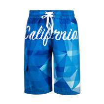 DRSLPAR Mens Quick Dry Swim Trunks Drawstring Beach Board Shorts with Mesh Lining