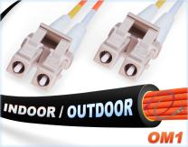 FiberCablesDirect -2M OM1 LC LC Fiber Patch Cable | Indoor/Outdoor 1Gb Duplex 62.5/125 LC to LC Multimode Jumper 2 Meter (6.56ft) | Length Options: 0.5M-300M | 1/10g sfp 1gbase mm lc-lc ofnr Black