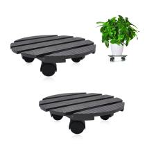 CERBIOR Plant Caddy Heavy Duty Plant Stand with Wheels Indoor/Outdoor Holds Up 12 Inches and 80 Lbs Strong and Sturdy Design (Round, Charcoal) 2Pack