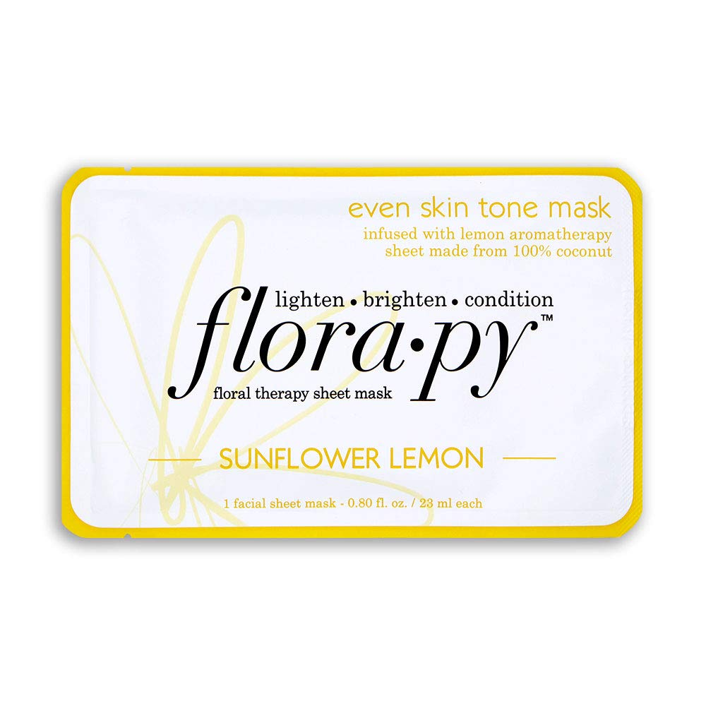Florapy Beauty Even Skin Tone Sheet Aromatherapy Mask, Sunflower Lemon, 1 Count