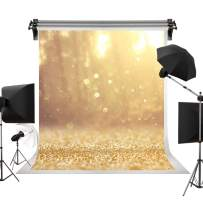 Kate 5x7ft/1.5m(W) x2.2m(H) Golden Bokeh Backdrops Photography Gold Glitter Winter Background Professional Photography Studio Backdrop